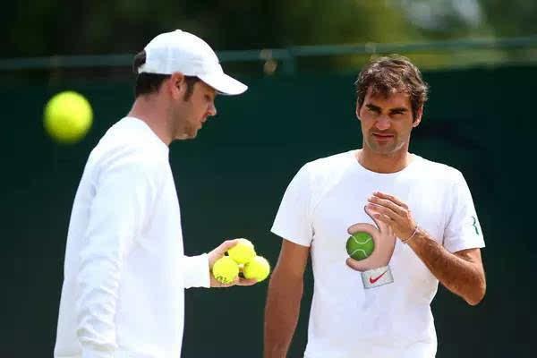 费德勒和教练卢瑟